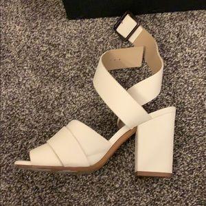 Delman New York ankle wrap heels